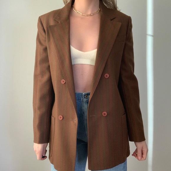 Vintage Christian Dior Rust Blazer Jacket Wool